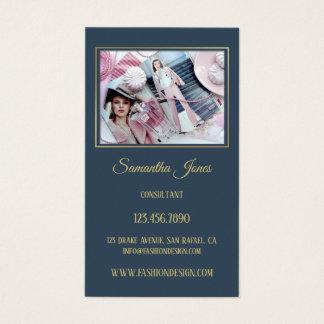 Custom Photo Chic Fashion Business Card