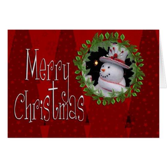 Custom Photo Christmas Card Template