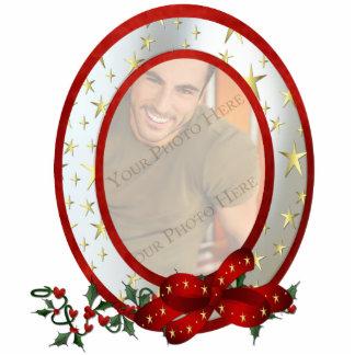 Custom Photo Christmas Ornament Oval Photo Sculpture Ornament