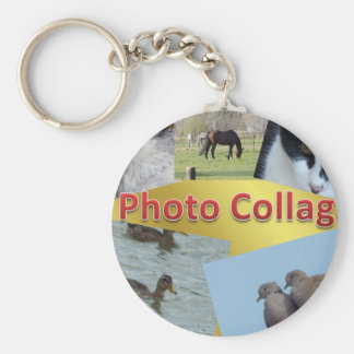 Custom Photo collage Keychain