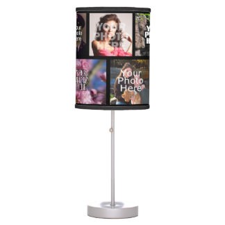 Custom Photo Collage Table Lamp