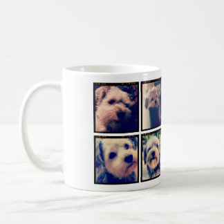 Custom Photo Collage with 8 Square Photos Coffee Mug