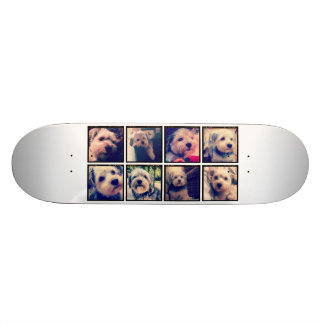 Custom Photo Collage with Square Photos Skateboard