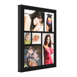 """Custom Photo Collage Wrapped Canvas, 1.5"""" Depth"""