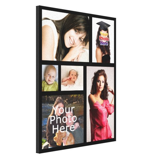 Custom Photo Collage Wrapped Canvas Print