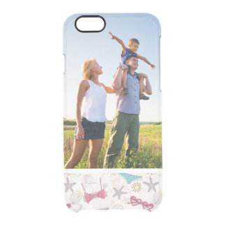 Custom Photo Cute Summer Abstract Pattern Clear iPhone 6/6S Case