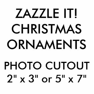 Custom Photo Cutout Christmas Hanging Ornament