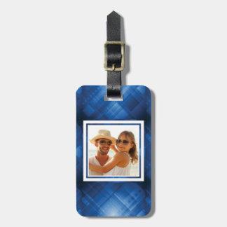 Custom Photo Dark blue hi-tech background Bag Tag