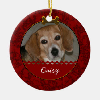Custom Photo Dog Remembrance Ornament