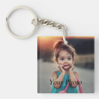 Custom Photo Double-Sided Square Acrylic Keychain
