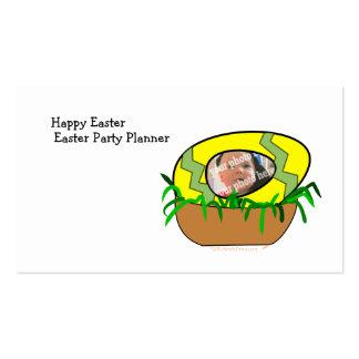 Custom Photo Easter Egg in Nest Template Business Card