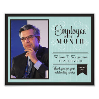 Custom photo employee of the month incentive award