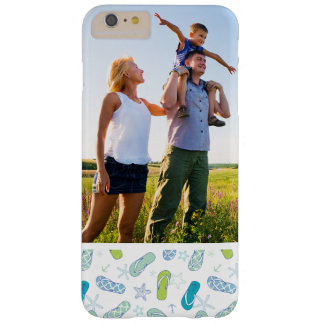 Custom Photo Flip Flop Pattern Barely There iPhone 6 Plus Case