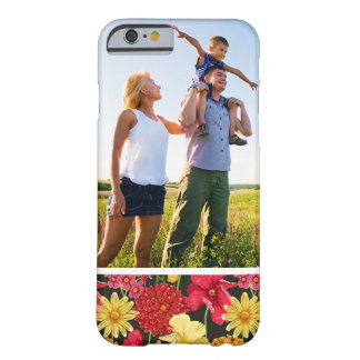 Custom Photo Floral wallpaper in watercolor style Barely There iPhone 6 Case
