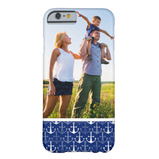Custom Photo Fun Anchor Pattern Barely There iPhone 6 Case