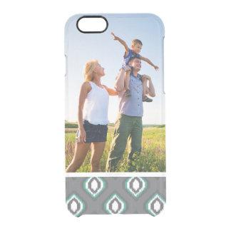 Custom Photo Geometric retro ikat tribal pattern Clear iPhone 6/6S Case