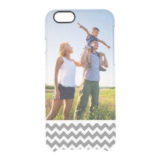 Custom Photo Geometric zigzag pattern Clear iPhone 6/6S Case