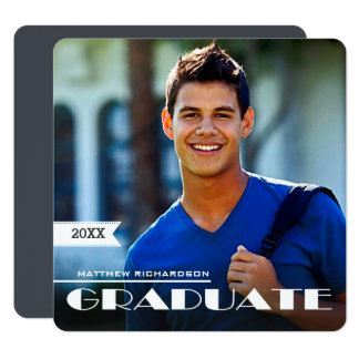 Custom Photo Graduation Party Invitations