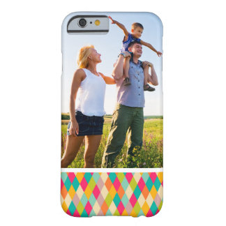 Custom Photo Harlequin vintage pattern Barely There iPhone 6 Case