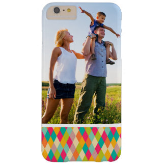 Custom Photo Harlequin vintage pattern Barely There iPhone 6 Plus Case