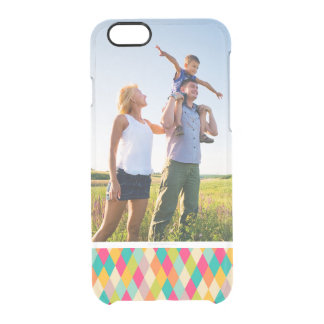 Custom Photo Harlequin vintage pattern Clear iPhone 6/6S Case