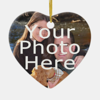 Custom Photo Heart Christmas Ornament
