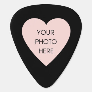 Custom Photo Heart (Front and Back) Guitar Pick