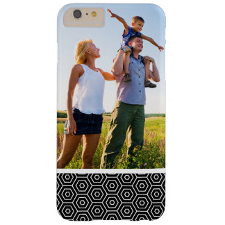 Custom Photo Hexagons texture geometric pattern Barely There iPhone 6 Plus Case