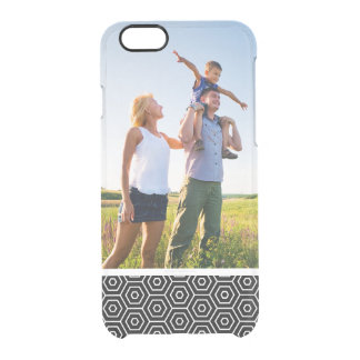 Custom Photo Hexagons texture geometric pattern Clear iPhone 6/6S Case