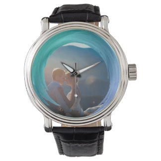 Custom Photo Instagram | Trendy Turquoise Splash Watch