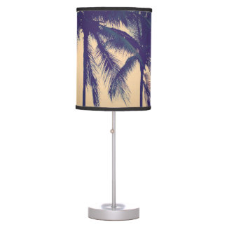 Custom photo lamps with palm tree beach image
