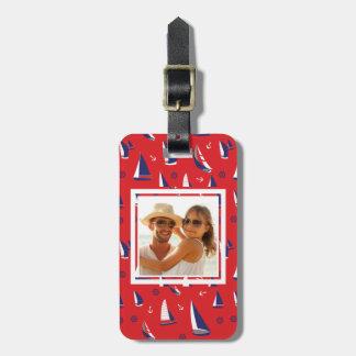 Custom Photo Lean Sailboat Pattern Bag Tag