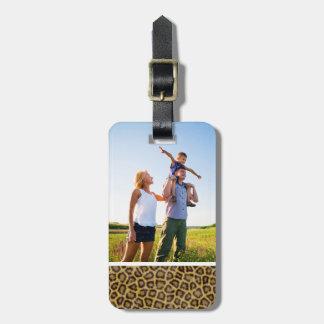 Custom Photo Leopard Fur Bag Tag