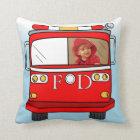 Custom Photo Little Firefighter Pillow