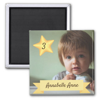 Custom Photo Magnet with Child's Name and Age