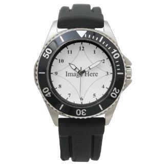 Custom Photo, Men's Stainless Steel Watch