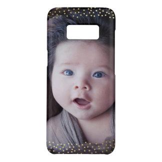 Custom Photo Mini Gold Dots Overlay Case-Mate Samsung Galaxy S8 Case