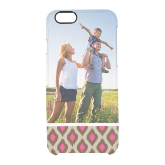 Custom Photo Modern ikat pattern Clear iPhone 6/6S Case