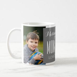 Custom Photo Mom & Dad Christmas Mug Grey