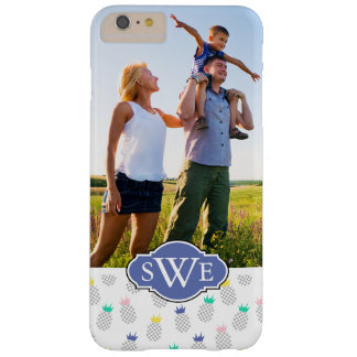 Custom Photo & Monogram Abstract Pineapples Barely There iPhone 6 Plus Case