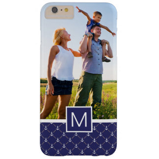 Custom Photo & Monogram Anchor pattern Barely There iPhone 6 Plus Case