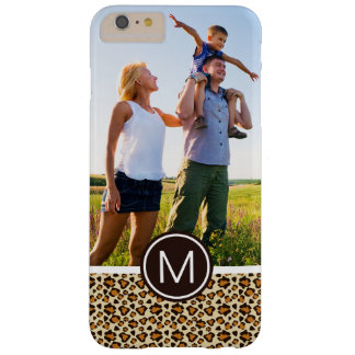 Custom Photo & Monogram Cheetah skin pattern Barely There iPhone 6 Plus Case