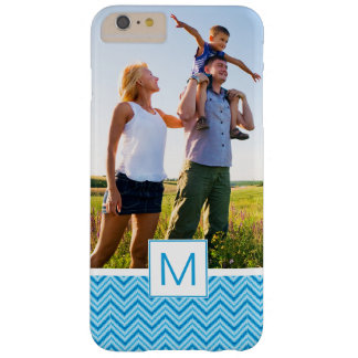 Custom Photo & Monogram Chevron Pattern Background Barely There iPhone 6 Plus Case