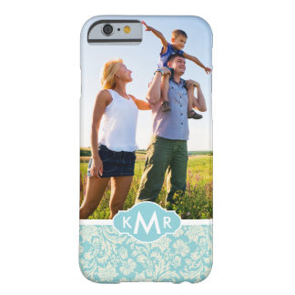 Custom Photo & Monogram Damask Pattern 3 Barely There iPhone 6 Case