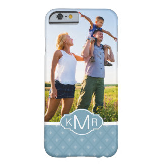 Custom Photo & Monogram Fleur-de-lis pattern Barely There iPhone 6 Case