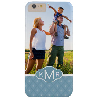 Custom Photo & Monogram Fleur-de-lis pattern Barely There iPhone 6 Plus Case