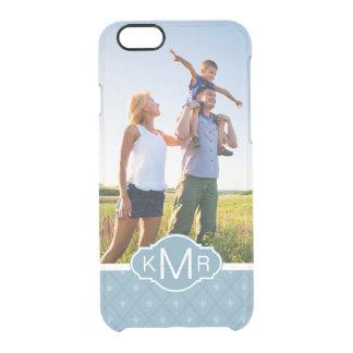 Custom Photo & Monogram Fleur-de-lis pattern Clear iPhone 6/6S Case