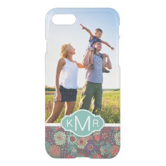 Custom Photo & Monogram Floral Cartoon Pattern iPhone 8/7 Case