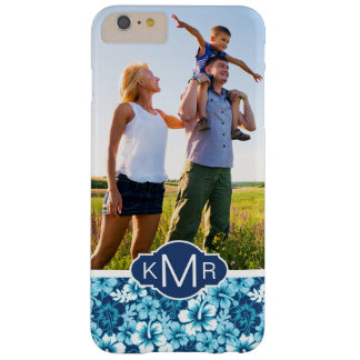 Custom Photo & Monogram Floral Hibiscus Pattern Barely There iPhone 6 Plus Case