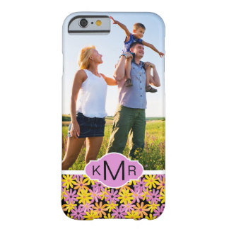 Custom Photo & Monogram Gerbera flowers pattern Barely There iPhone 6 Case